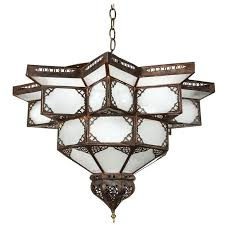 moroccan star shape frosted glass chandelier for