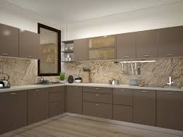 Modular Kitchen India Designs Grey Modern L Shaped Modular Kitchen Design For Indian Homes Kitzine