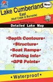 Amazon Com Lake Cumberland West Fishing Map Kentucky