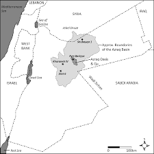 Figure 75 1 map of jordan showing the extent of the azraq basin and marking the locations of sites discussed in the text redrawn and modified from cordova
