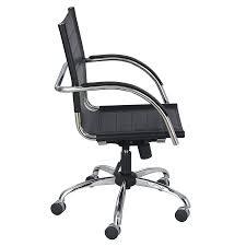leather office chair modern. Fathom Black Modern Leather Office Chair - Side View