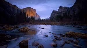 Wallpaper Mountains, trees, stones ...