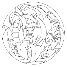 Mandala Tijger Kleurplaat Jouwkleurplaten