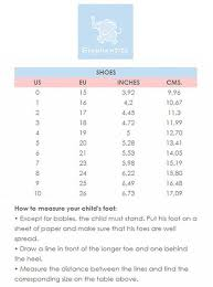 Shoe Conversion Page 4 Of 5 Charts 2019