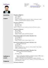 6 Cv For Teaching Job Application Emmalbell