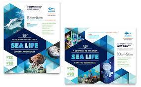 Poster Templet Ocean Aquarium Poster Template Design