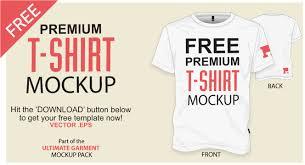 free t shirt template free t shirt template vector mockup vector file