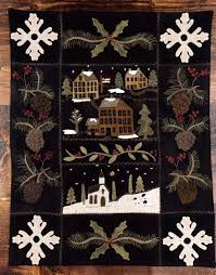 Auntie Ju's Quilt Shoppe - Snow Village Wallhanging kit, $120.00 ... & Auntie Ju's Quilt Shoppe - Snow Village Wallhanging kit, $120.00 Our kit  includes pattern, Adamdwight.com