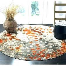 safavieh rug round rugs reviews rug 5 round abstract watercolor grey orange distressed area wool rugs