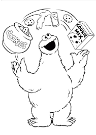Small Picture Cookie Monster Coloring Pages sportekeventscom