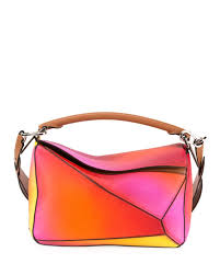 Quick Look. Loewe · Puzzle Patchwork Colorblock Leather Satchel Bag.  Available in Orange