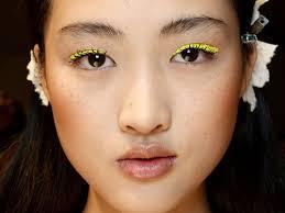 eye dark brown eyes electric yellow
