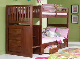 com mission twin over twin staircase bunk bed with trundle desk hutch chair and entertainment dresser in merlot finish kitchen dining