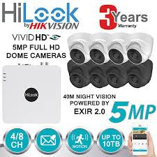 HIKVISION <b>5MP</b> FULL <b>HD</b> CCTV SYSTEM 4CH <b>8CH</b> DVR WHITE ...
