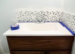 updated bathroom tile backsplash diy with paint bathroom backsplash