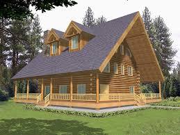 cozy luxury log house has wrap around porch