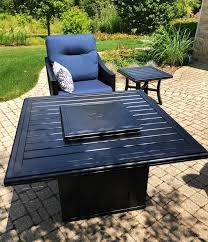 installation of a tropitone fire pit