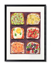 delicious food painting black framed wall art  on wall art pictures of food with delicious food painting black framed wall art