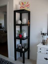 Living Room:Brown Wooden Wall Shelving Units For Living Room On White  Painted Wall Dazzling