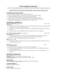 Sample Business Resume Template Sample Resume Center Resume