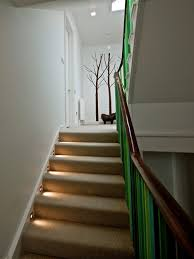 basement stairwell lighting. the is featured in this stairwell lighting every step and reflecting light throughout space basement
