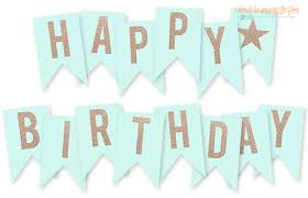Birthday Banner Printable Free Printable Happy Birthday Banner I Should Be Mopping
