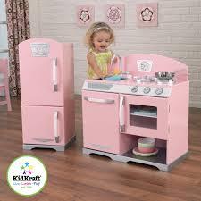 Retro Play Kitchen Set Kidkraft Pink Retro Wooden Play Kitchen And Refrigerator Walmartcom
