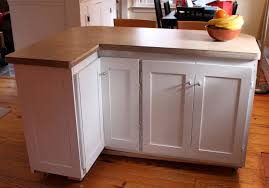 l shape rolling kitchen island with storage cabinet