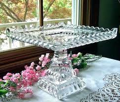 milk glass pedestal cake stand square antique plate crystal wedding stands glass pedestal cake stand