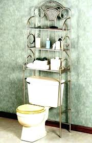 toilets bathroom organizers over the toilet metal shelf 3 space rack shabby chic with three