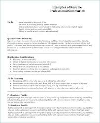 Example Of Profile For Resume Profile Section Of Resume Examples
