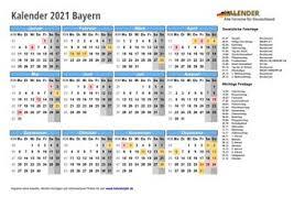 Kalender werden auf 2021 jahre gedruckt. Kalender 2021 Bayern Alle Fest Und Feiertage