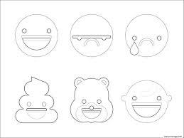 Coloriage Emoji Caca Triste Sourire Bear Dessin