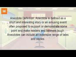 what is an example of an anecdote what is an example of an anecdote