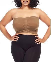 plus size tube tops dinamit womens plus size seamless padded bandeau tube top bra khaki