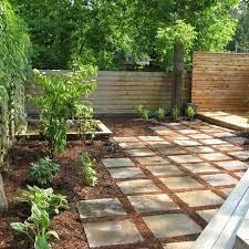 no grass back yard home design ideas