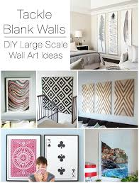 diy large scale wall art ideas on wall decor for big empty walls with decorating large walls large scale wall art ideas