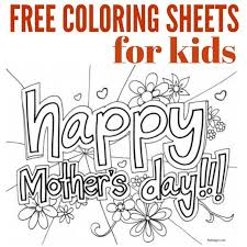 Free printable and online coloring pages for kids for classroom & personal use. Free Mother S Day Coloring Pages Mothers Day Coloring Sheets