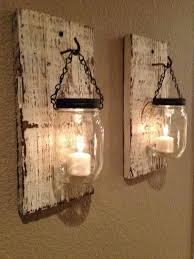 Mason jar candle wall sconces old farm distressed
