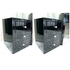 metal and glass nightstands black nightstand pair mirrored bedside table chest