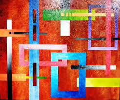 geometric abstract art lesson preview how to paint large texture artworks you