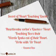 How To Write A Quote New Secret Of Heart Touching Quotes Writings By Virag Kale