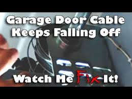 garage door wireRepair Tangled Jammed Garage Door Wire Cable That Fell Off Drum