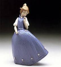 LLADRO - GIRL BLUE DRESS W-FLOWER | Girls blue dress, Lladro ...