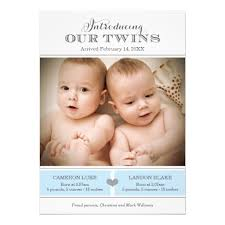 twin birth announcements photo cards twins photo birth announcement two baby boys superdazzle custom