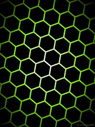Green And Black Design Wallpaper Glow Hexagon Black White Green Gradient 000000 Ffffff