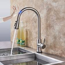 Touch kitchen faucets Touch Activated Brushed Nickel Touch Sensor Swivel Kitchen Sink Faucet Pull Out Spray Mixer Tap Ebay Touch Kitchen Faucet Ebay
