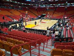 Miami Heat Interactive Seating Chart Americanairlines Arena Section 111 Miami Heat