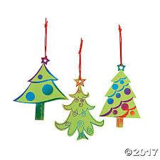 Green Christmas Tree Foam Stickers Holiday Glitter Decoration Card Foam Christmas Tree Crafts