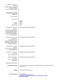 Modelo Basico De Plantilla De Cv Para Completar E Imprimir